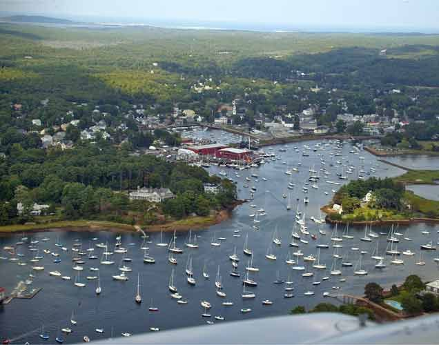 Manchester Harbor – Photo from the Hood Blimp by Barby Almy