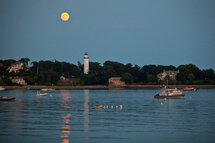 Super Moon Rises Over Smith's Point – Photography by Barby Almy