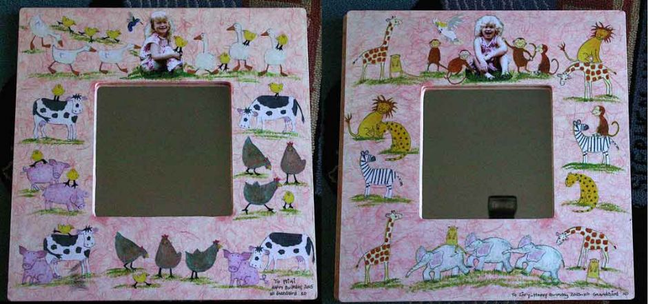 Mirrors for the Twins – Decoupage by Barby ALmy