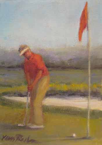 Golf Study – Oil Painting by Joan van Roden