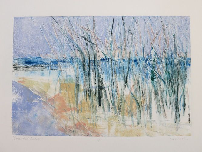"""Coastal Colors"" – Monotype by Kathy Connolly"