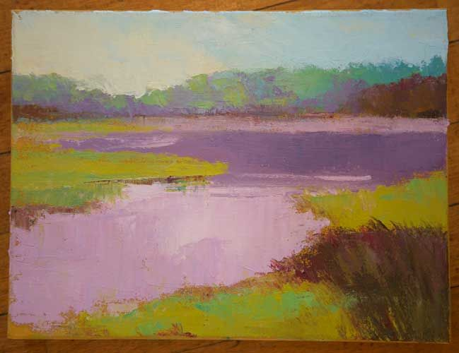 Day's Creek – Oil by Kathy Connolly