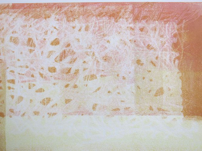 """House of Straw"" – Monotype by Kathy Connolly"