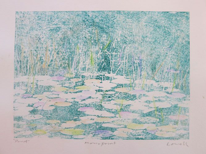 """""""Pond"""" – Monotype by Kathy Connolly"""