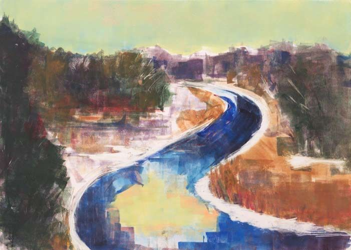 Vermont – Monotype by Kathy Connolly