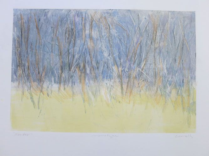 """""""Winter"""" – Monotype by Kathy Connolly"""
