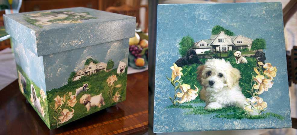 http://www.beachstreetstudios.com/artists/barby-almy/photo-decoupage/custom-lily-box-decoupage-by-barby-almy/